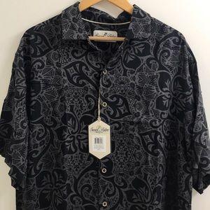 Seven Palm Hawaiian Button Down Shirt Large